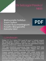 Kelompok 4 - NASIONALISME 1 - ASN Sebagai Perekat NKRI