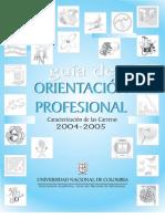 Guia de orientacion vocacional Universidad Nacional Cartilla de carreras