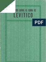 ESTUDIO SOBRE EL LIBRO DE LEVITICO
