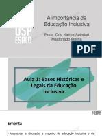 Slides Importancia da educacao inclusiva