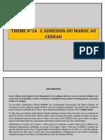 THEME N°25 L_ADHESION DU MAROC AU CEDEAO.docx