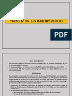 THEME N° 30 LES MARCHES PUBLICS