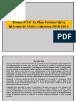 Thème N°19 LE PLAN NATIONAL DE LA REFORME DE L_ADMINISTRATION.docx