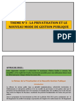 THEME N°3 LA PRIVATISATION ET LE NOUVEAU MODE DE GESTION PUBLIQUE