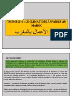 THEME N°6 LE CLIMAT DES AFFAIRES AU MAROC