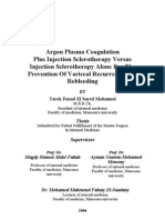 Argon Plasma Coagulation Plus Injection Sclerotherapy Versus Injection Sclerotherapy Alone for the Prevention of Variceal Recurrence and Re Bleeding
