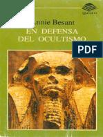 Besant Annie - En Defensa del Ocultismo.pdf