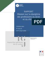 RAPPORT Mission sur la discipline des professions du droit et du chiffre