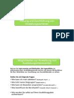 2. Planung Durchführung Bewerbung