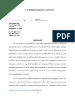 12.6 FEC Complaint - GAGOP v. Jon Ossoff for Senate and the Georgia Way