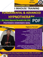 MATERI HYPNOTHERAPY FUNDAMENTAL & ADVANCED--09 November  2020 POLTEKKES BANJARMASIN PART 01