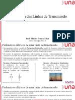 Modelagem de Linhas de Transmissão