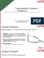 Revisão - Trigonometria e Introdução aos números Complexos