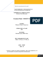 DERECHO CIVIL 1 Exámen Final.....