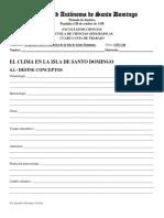 Guía #4 El clima de la isla de Santo Domingo