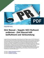 Dirk Massat – Negativ SEO Rufmord