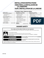washer installation manual