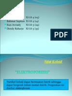 Sifat Koloid elektroforesis ppt 2003