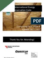 2009  IECC VS ASHRAE 90.1 MASTER 121410