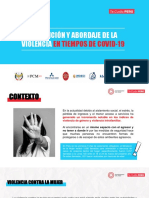 7. Prevención y abordaje de violencia