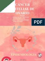 CA. EPITELIAL DE OVARIO + PRONOSTICO Y TRATAM.