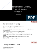 The Economics of Giving, the Law of