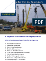 Rig Site Calculations for Drilling Operations