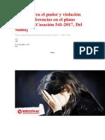 Actos contra el pudor y violación sexual