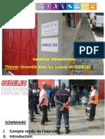 Compte rendu exercice d'évacuation SUDELEC