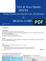 MUTE CALL n Voice Quality ISSUES during Channel rateSpeech Codec Modification