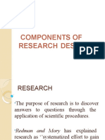 Components of Research Design