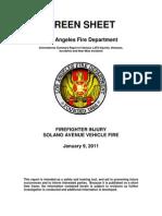 LAFD Green Sheet 2011-01-09 Incident 1140