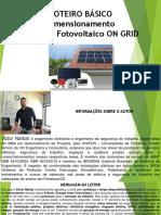 Roteiro Básico - Dimensionamento do Sistema Fotovoltaico ON GRID