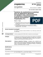 NF EN 13244-2 2003 FR 供水,排水和压力污水系统的塑料管道系统之聚乙烯管(PE)-第2部分:管材