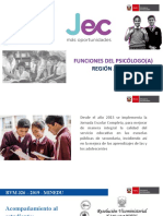 FUNCIONES DEL PSICÓLOGO