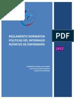 POLITICAS  PROCEDIMIENTOS Y REGLAMENTO DEL INTERNADO ROTATIVO DE ENFERMERÍA  abril 2017