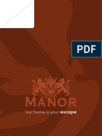 The Manor Menu
