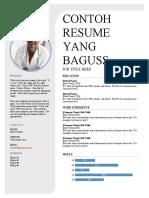 contoh resume yang  baguss