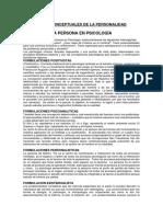 BASES CONCEPTUALES DE LA PERSONALIDAD