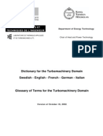 Dictionary for the Turbomachinery