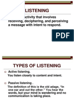 listenening