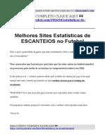 Melhores Sites Estatistica de Cantos Campeonato Brasileiro (tabela de escanteios)