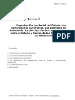 BLOQUE 1. TEMA 3. ORGANIZACIÓN TERRITORIAL DEL ESTADO