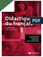 Didactique du français. Fondements dune discipline.pdf