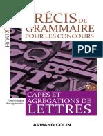 Dominique Maingueneau - Précis de grammaire pour les concours- Jericho