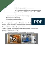 Presentation formule