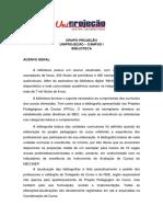 Acervo Biblioteca - Educação Física Bacharelado - Campus i