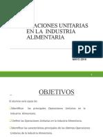 OPERACIONES UNITARIAS EN INDUSTRIA DE ALIMENTOS PDF DE DIAPOSITIVAS