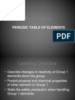 Analyzing Group 1 Element