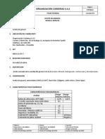 Ficha técnica Aceite girasol 2020